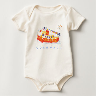 Kunst-Baby: Falmouth-Fähre, Cornwall Baby Strampler
