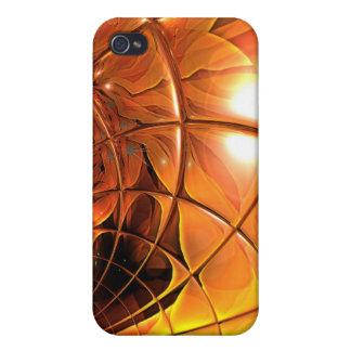 Kunst-Bienenwaben-Glas abstrakt iPhone 4/4S Hülle