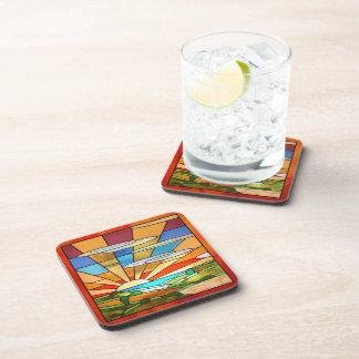 Kunst-Deko-beflecktes Glas 1 Getränkeuntersetzer