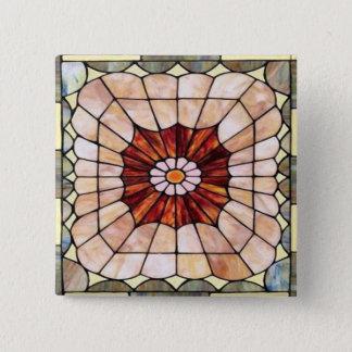 Kunst-Deko-beflecktes Glas 2 Quadratischer Button 5,1 Cm