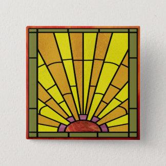 Kunst-Deko-beflecktes Glas 3 Quadratischer Button 5,1 Cm