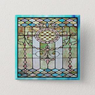 Kunst-Deko-beflecktes Glas 4 Quadratischer Button 5,1 Cm