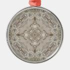 Kunst-Deko bezaubernde große Gatsby Silbernes Ornament