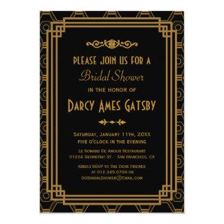 Kunst-Deko-Brautparty-Einladungen 12,7 X 17,8 Cm Einladungskarte