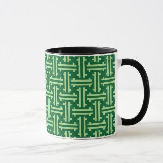 Kunst-Deko-chinesisches Gitterwerk, Jade-Grün Tasse