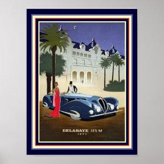 Kunst-Deko Delahaye Anzeige-Druck 1937 12x16 Poster
