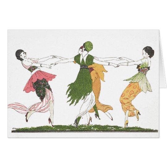 Kunst-Deko, der Damen (freien Raum, tanzt nach Karte