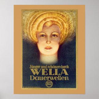 Kunst-Deko-deutsches Anzeigen-Plakat für Wella Poster