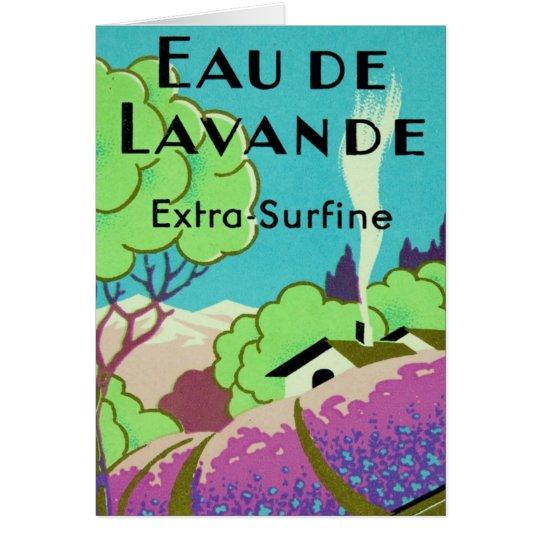 Kunst-Deko-französischer Lavendel-Bauernhof Grußkarte