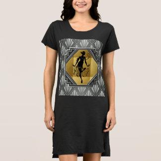 Kunst-Deko Gatsby Zwanzigerjahre Entwurf Kleid