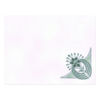 Kunst-Deko-Juwelen, die Mitteilungskarte Wedding Postkarte