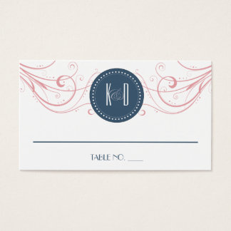 Kunst-Deko modernes Wedding Placecards Visitenkarte