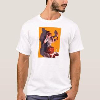 Kunst-Deko-Paar-Spiegel-Kürbislaterne-Kürbis T-Shirt