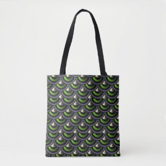 Kunst-Deko-Pfau-Meerjungfrau-Haut-Japaner-Welle Tasche