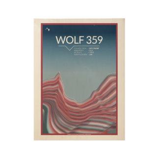 Kunst-Deko-Raum-Plakate des Wolf-359 Holzposter