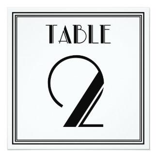 Kunst-Deko-Tischnummer 2 Karte