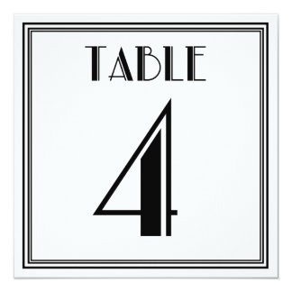 Kunst-Deko-Tischnummer 4 Karte