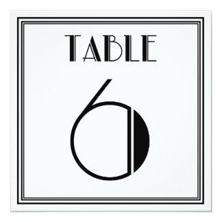 Kunst-Deko-Tischnummer 6 Karte