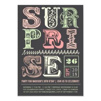 Kunst-Deko-Überraschungs-Party-erwachsene 11,4 X 15,9 Cm Einladungskarte