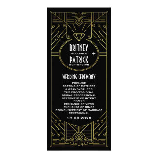 Kunst-Deko-Vintages Gold und schwarze Karten Druck