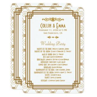 Kunst-Deko-weiße Hochzeits-Programme Karte