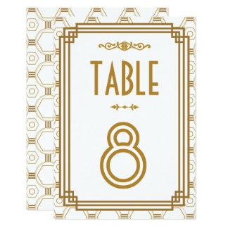 Kunst-Deko-weiße Wedding Tischnummern Karte