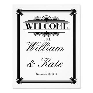 Kunst-Deko, Willkommen zu unserem Hochzeitszeichen Fotodruck