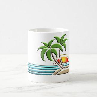 Kunst-DekoPalme-Tasse Tasse