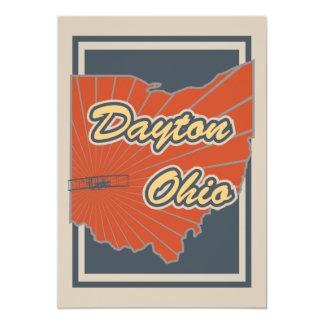Kunst-Druck Daytons, Ohio - Reise-Grafik 12,7 X 17,8 Cm Einladungskarte