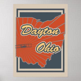 Kunst-Druck Daytons, Ohio - Reise-Plakat Poster