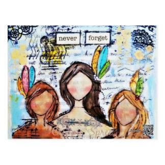 Kunst durch Croppin Gelage Postkarte