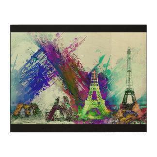Kunst-Eiffelturm-Bau Paris Frankreich Holzleinwand