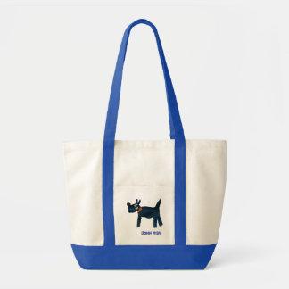 Kunst-Einkaufstasche: Scotty Hund Impulse Stoffbeutel