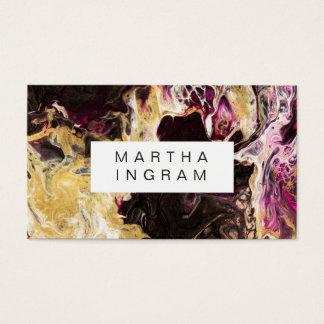 Kunst-Entwurfs-abstraktes flüssiges dunkles Lila Visitenkarte