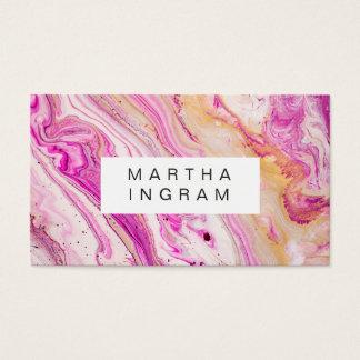 Kunst-Entwurfs-abstraktes helles neues rosa Visitenkarte