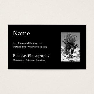 Kunst-Fotografie-Visitenkarte-Schablone Visitenkarte