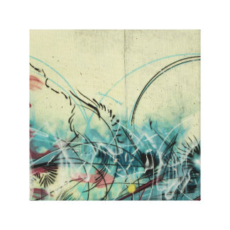 Kunst in der Wirbelgraffiti-Kunst-Leinwand Leinwanddruck