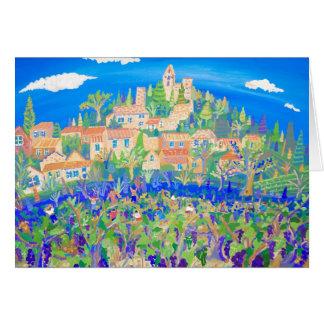 Kunst-Karte: Die Trauben-Ernte, Rasteau, Provence Karte