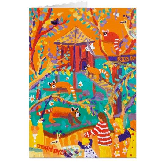 Kunst-Karte: Entspannende rote Pandas Karte