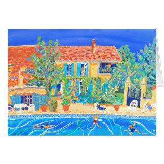 Kunst-Karte: Feiertage in Provence Grußkarte