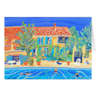 Kunst-Karte: Feiertage in Provence Karte