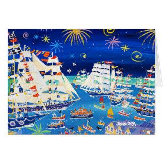 Kunst-Karte: Hohe Schiffe und kleine Schiffe 2014 Karte
