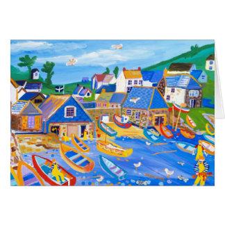Kunst-Karte: Hummer-Fischer, Cadgwith, Cornwall Karte
