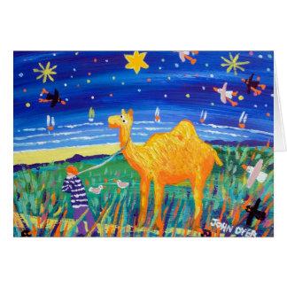 Kunst-Karte: Humpy kornische Kamel-Weihnachtskarte Grußkarte