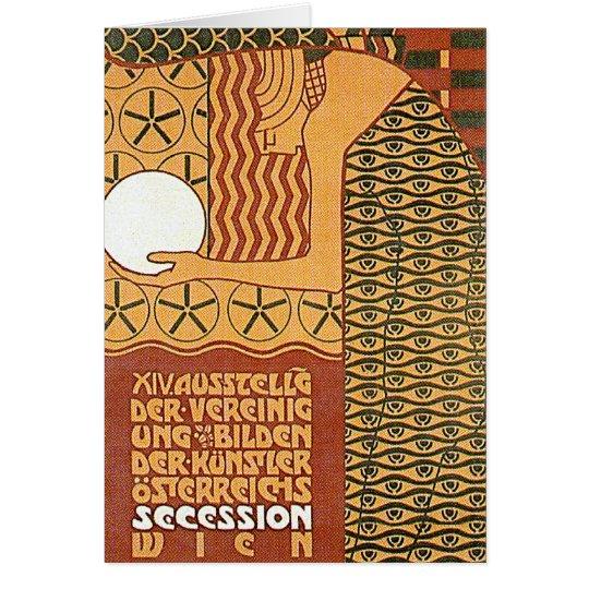 Kunst-Karte /Invitation: Wien-Sezessions-Plakat Grußkarte