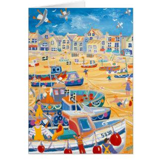 Kunst-Karte: St. Ives Hafen, Cornwall Grußkarte