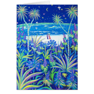 Kunst-Karte: Strand-Hütten-Garten-Liebe Karte