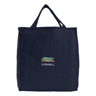 Kunst-Käufer-Tasche: Gesticktes tropisches Bestickte Tragetasche