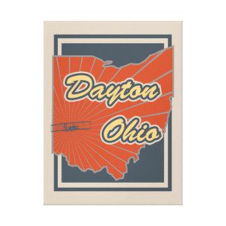 Kunst-Leinwand Daytons, Ohio - Reise-Druck Leinwanddruck