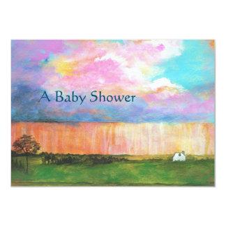 Kunst-Malerei-Regensturm-kleine Karte